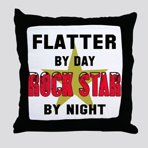 Flatter By Day, Rock Star By night Throw Pillow