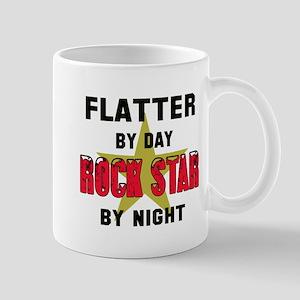 Flatter By Day, Rock Star By nig 11 oz Ceramic Mug