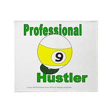 9 Ball Hustler Throw Blanket