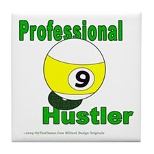 9 Ball Hustler Tile Coaster