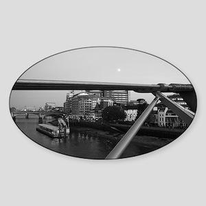 London Oval Sticker