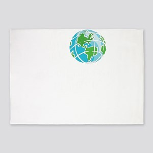 Save the Planet No Planet B 5'x7'Area Rug