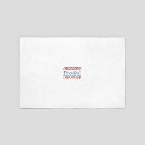 Obsessive Tchoukball Disorder 4' x 6' Rug