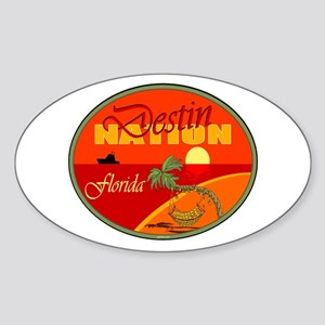 Destin Florida Oval Sticker
