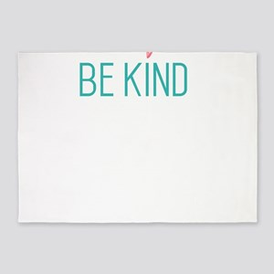 be kind or be quiet antibullying co 5'x7'Area Rug