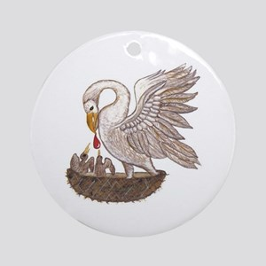 Pelican Ornament (Round)