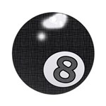 8 Ball Round Ornament
