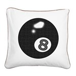 8 Ball Square Canvas Pillow