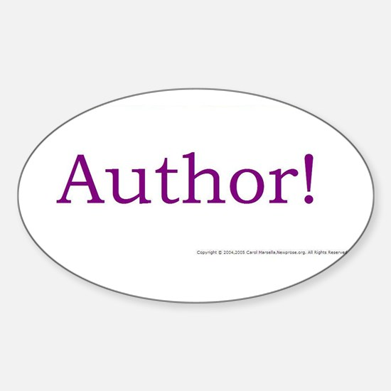 AUTHOR! Oval Decal