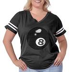 8 Ball Women's Plus Size Football T-Shirt