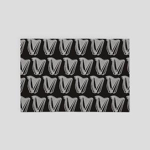 Harp Icon Tile Pattern 4' x 6' Rug