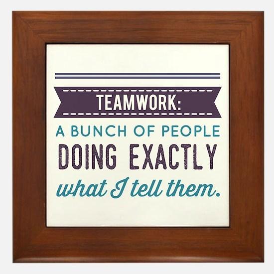 Teamwork: Framed Tile