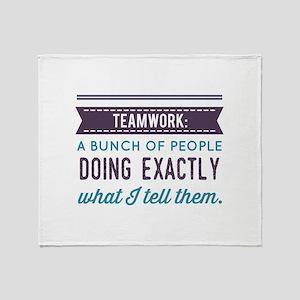 Teamwork: Throw Blanket