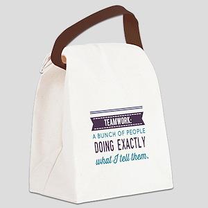 Teamwork: Canvas Lunch Bag