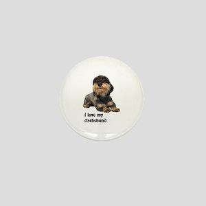 I Love My Dachshund Mini Button