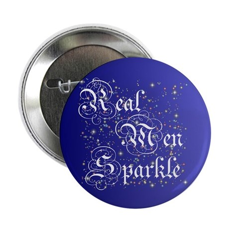 "Real Men Sparkle Twilight 2.25"" Button (10 pack)"