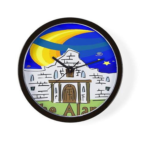 Starry Night Alamo Wall Clock