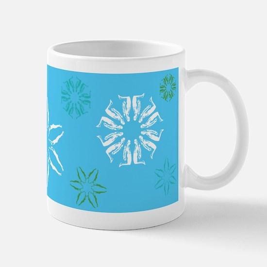 Swimmer Snowflakes Mug