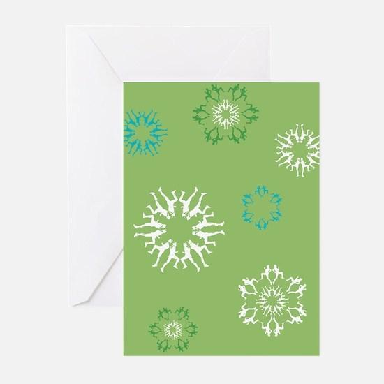 Runner Snowflakes Greeting Cards (Pk of 20)