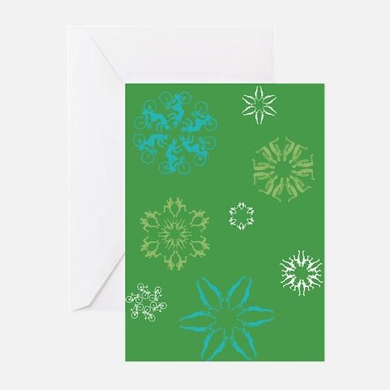 Triathlon Snowflakes Greeting Cards (Pk of 20)