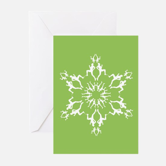 Runner Snowflake Holiday Greeting Cards (Pk of 20)