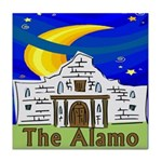Starry Night Alamo Tile Coaster