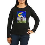 Starry Night Alamo Women's Long Sleeve Dark T-Shir