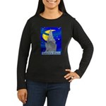 Starry Night New York Women's Long Sleeve Dark T-S