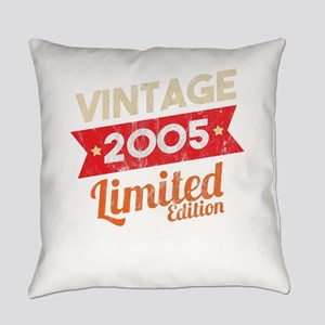 Distressed Vintage Typography 2005 Everyday Pillow
