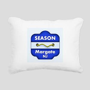 Margate Season Badge Rectangular Canvas Pillow