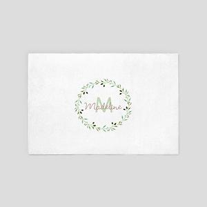 Vine Wreath Monogram 4' x 6' Rug