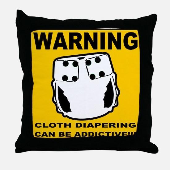 Warning... Throw Pillow
