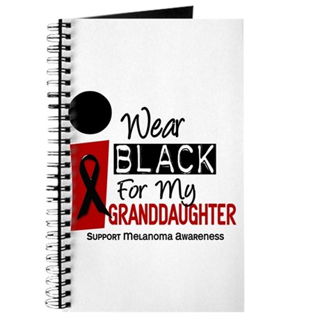 I Wear Black For My Granddaughter 9 Journal