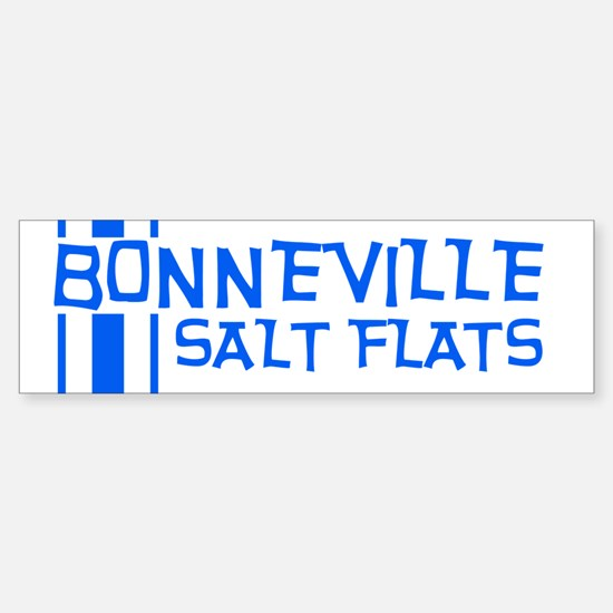 Retro Stripe-Bonneville Salt Bumper Bumper Bumper Sticker