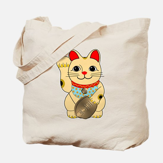 Gold Maneki Neko Tote Bag