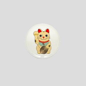Gold Maneki Neko Mini Button