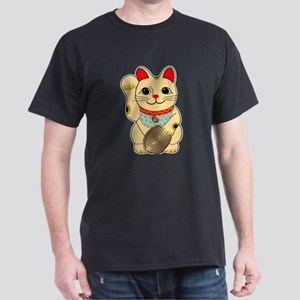 Gold Maneki Neko Dark T-Shirt