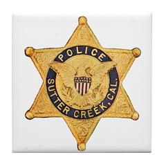 Sutter Creek Police Tile Coaster