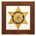 Sutter Creek Police Framed Tile