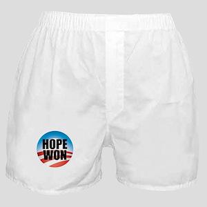 Hope Won - Barack Obama Logo Boxer Shorts