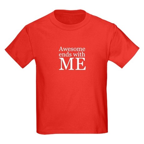 Awesome Ends with Me Kids Dark T-Shirt