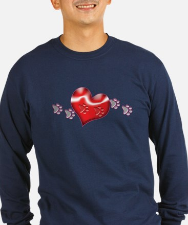 Paw Prints On Hearts T