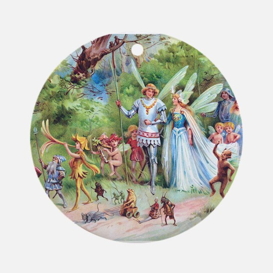 THE MARRIAGE OF THUMBELINA Ornament (Round)