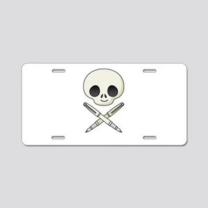 Jolly Roger Writer Aluminum License Plate