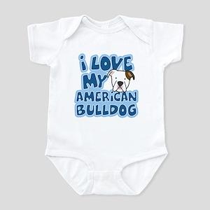 I Love my American Bulldog Infant Bodysuit