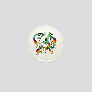 Five Kokopelli Jam Session Mini Button