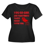 Tacky Shoes Plus Size Scoop Neck Dark T-Shirt
