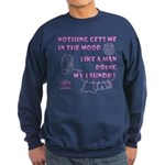 Man Doing My Laundry Sweatshirt (dark)