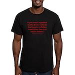 R U Human? Men's Fitted T-Shirt (dark)