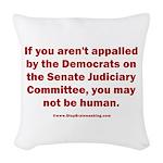 R U Human? Woven Throw Pillow